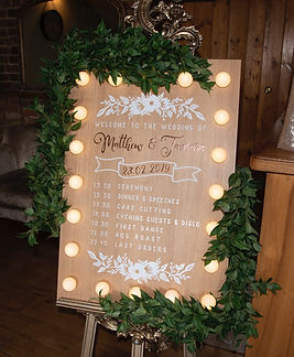 Custom Light Up Wooden Board