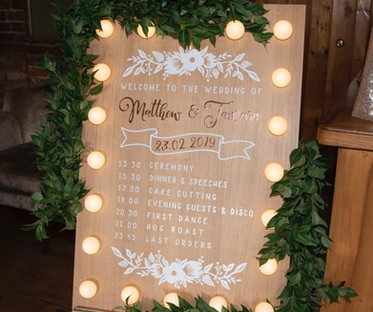 Customisable Light-Up Wooden Board