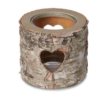Heart Bark Candle Tealight Holder