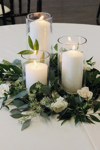 Clear Glass Cylinder Candle Holders Centrepiece