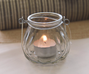Tea Light Candle Holder with Handle
