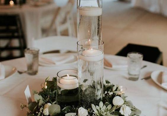 glassGlass Cylinder Candle Centrepiece