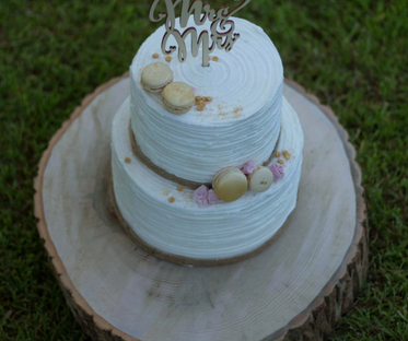 Log Slice Wooden Cake Stand 14 - 16 Inches