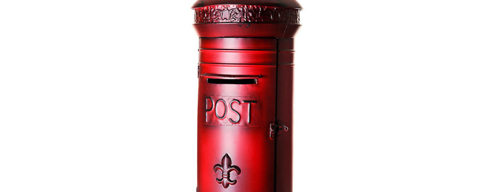 Classic Lockable Red Post Box