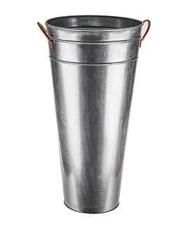 Galvanised Vase With Copper Handles 54cm
