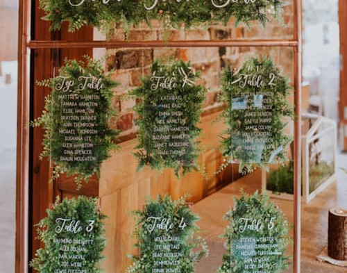 Copper & Foliage Seating Chart