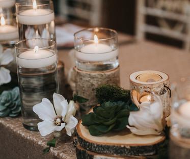 Bark & Glass Candle Lanterns