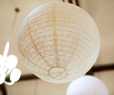 20 Inch Ivory Lace Hanging Lantern
