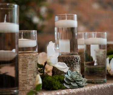 Glass & Bark Candle Lanterns