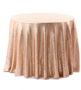 Matt Champagne & Blush Sequin Cake Table