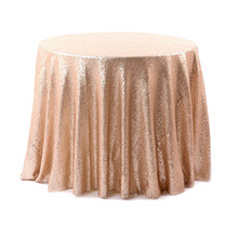 Matt Champagne & Blush Sequin Cake Table