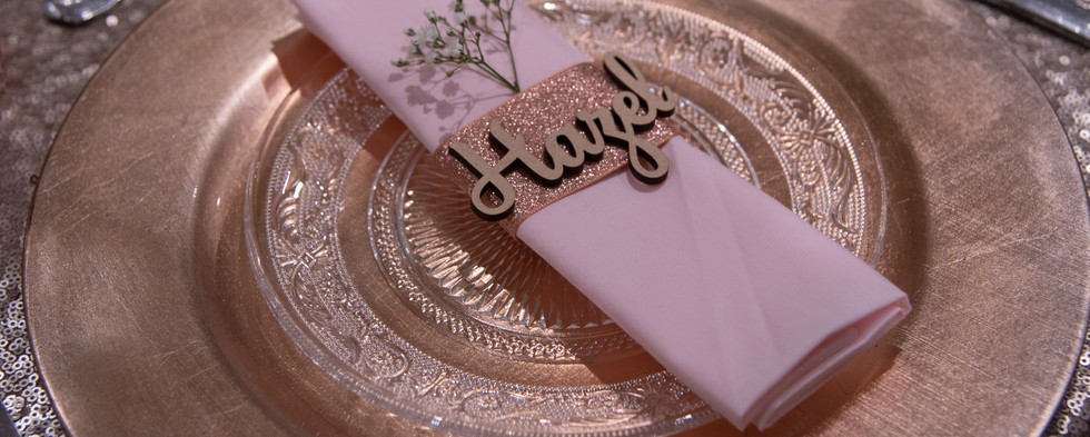 Light Pink Napkin Hire
