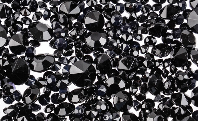 Black Scatter Diamonds