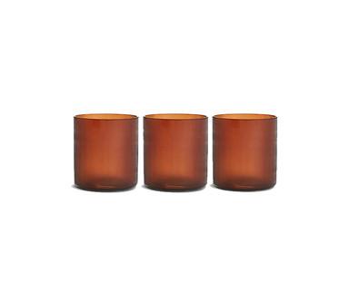 Amber Tealight Holders