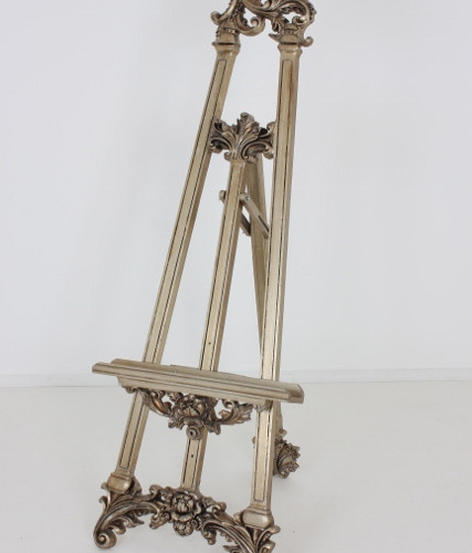 Large Ornate Bronze Easel