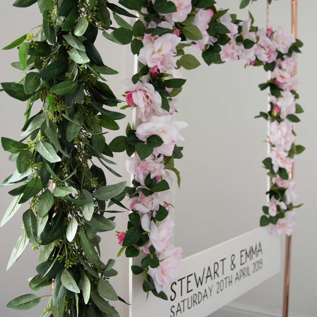Pink Floral Photo Booth Station