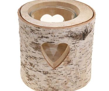 Large Heart Bark Candle Holder or Vase