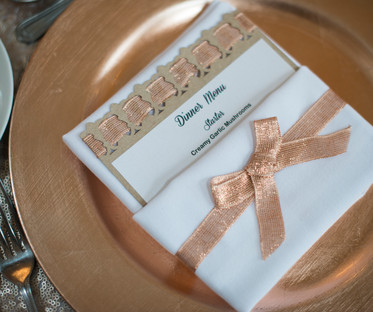 33cm Rose Gold Charger Plates