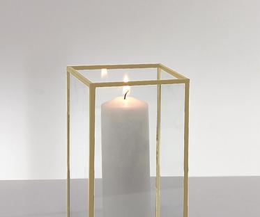 Set of 3 Gold Trim Glass Terrarium Lanterns