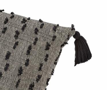 Black Textured Cushion