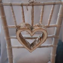 Wood Hanging Heart Chair Decor