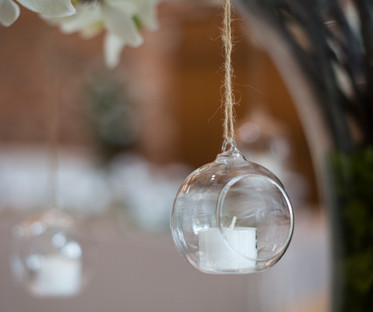 Clear Hanging Glass Sphere