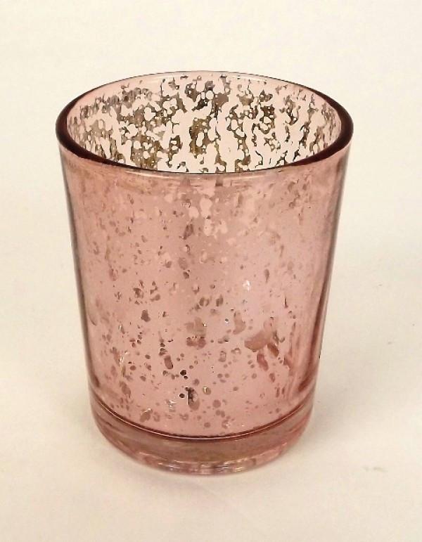 Rose Gold _ Pink Candle Votive