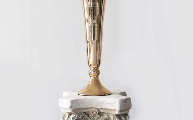 Gold Conic Metal Vase Centrepiece