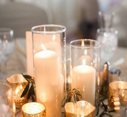 Glass Cylinder Candle Centrepiece