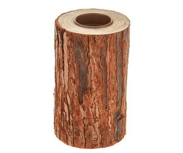 Bark Wooden Tealight Holders 15cm