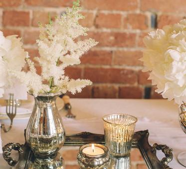 Silver Ribbed Tea Light Votive Candle Holder