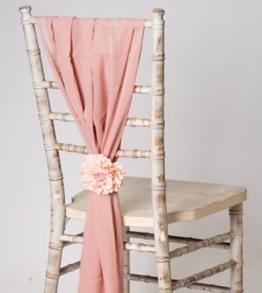 Rose Gold / Pink Vertical Chiffon Chair