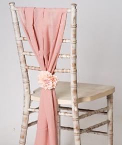 Rose Gold _ Pink Vertical Chiffon Chair