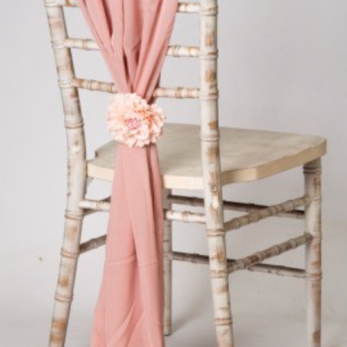 Rose Gold _ Pink Vertical Chiffon Chair