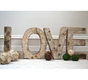 "Birch Wood 12"" Love Letter"