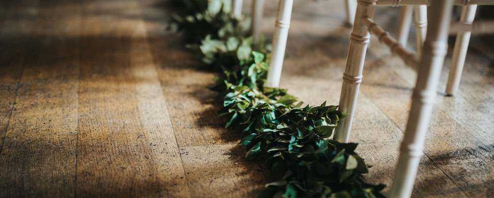 Floor Aisle Foliage Garland