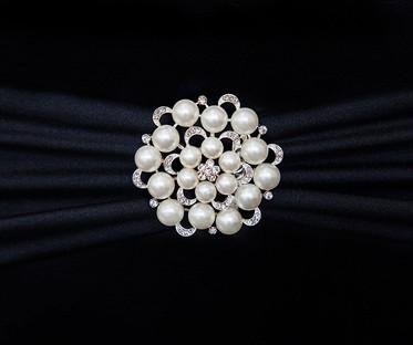 Pearl & Diamante Brooches