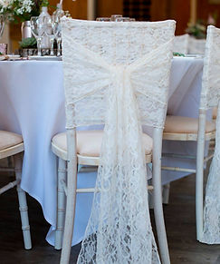 Ivory Lace Chair Cover Hood by First Imp
