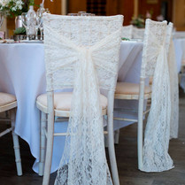 Ivory Lace Chair Hood
