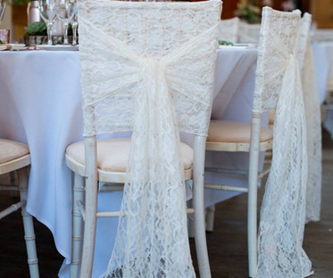 Ivory Lace Chair Hood Decor