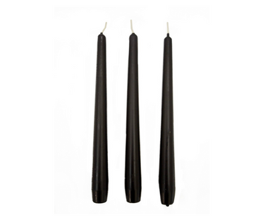 Black Tapered Dinner Candles