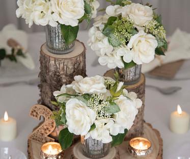 Floral Log Trio Centrepiece