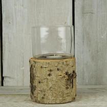 Mini Small Bark & Glass Lantern