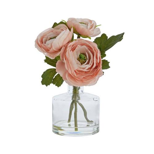 Pink Ranunculus in Clear Bud Vase