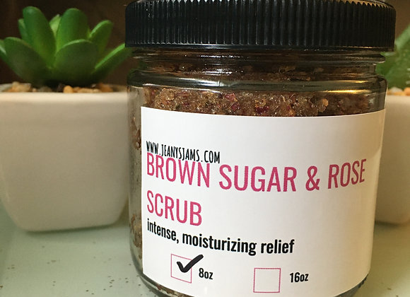 Brown Sugar & Rose Scrub