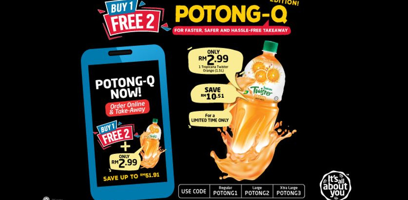 POTONG-Q FOR FASTER, SAFER, & HASSLE-FREE TAKEAWAY