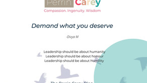 Demand what you deserve