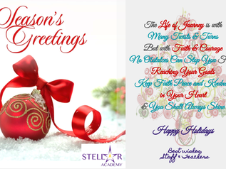 Here's wishing you a very Merry Christmas & Happy Holidays from Stellar Academy