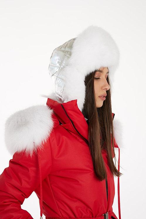 SILVER METALLIC HAT