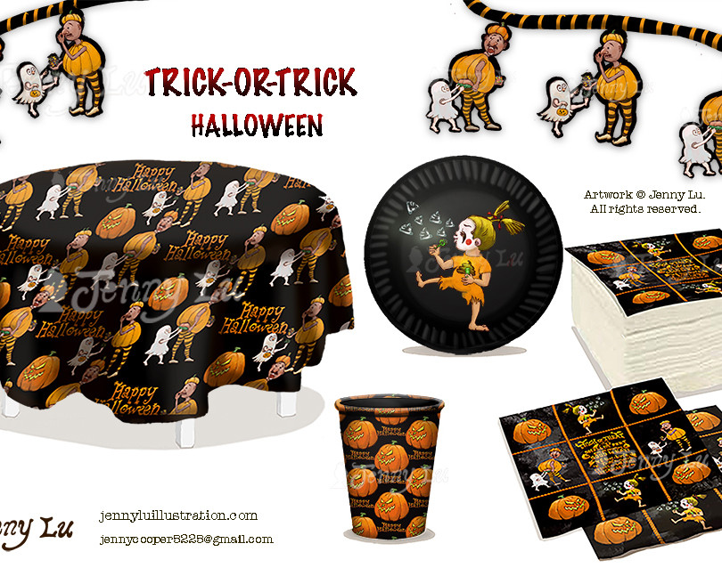 Trick-Or-Treat Halloween Art Collection